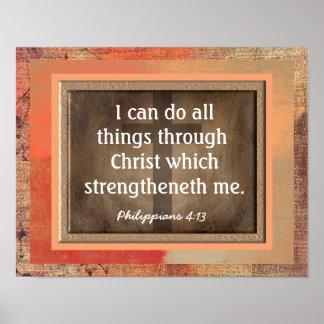 Impressão da arte do 4:13 dos Philippians