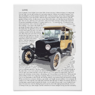Impressão da arte do carro vintage