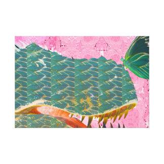 Impressão da arte do dinossauro e da borboleta em