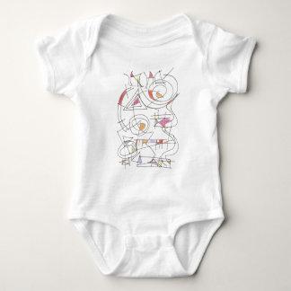 Impressão da arte do Harmonioso-Abstrato Body Para Bebê
