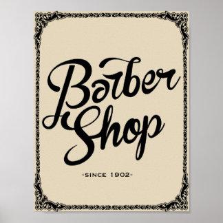 impressão da arte do poster vintage da barbearia