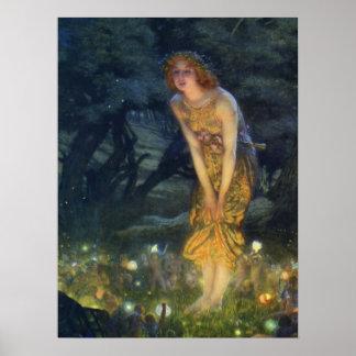 Impressão da arte do Pre-Raphaelite da véspera de