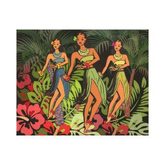 Impressão da arte do vintage de Havaí Hula em