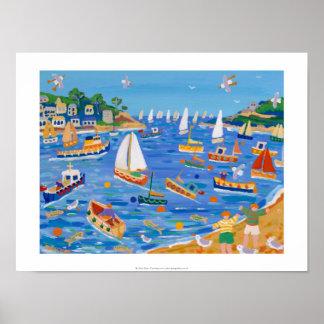 Impressão da arte: Navigação de domingo, Fowey,