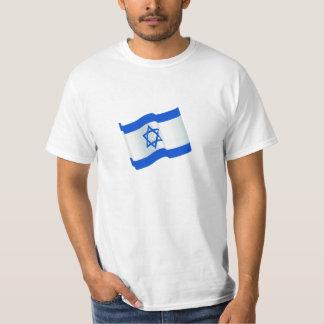 Impressão da bandeira de Israel na camisa