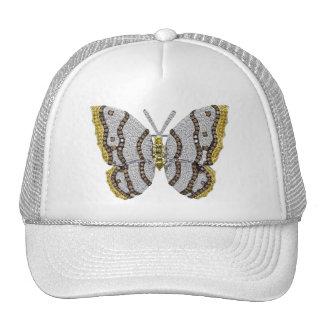 Impressão da borboleta do diamante boné