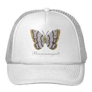 Impressão da borboleta do diamante bonés