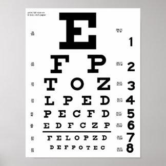Impressão da carta de olho