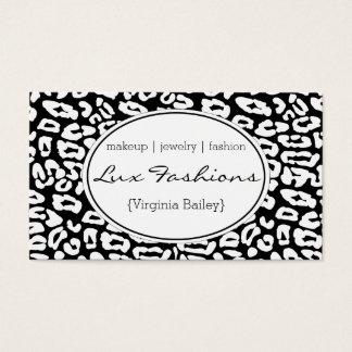 Impressão da chita (branco) cartão de visitas
