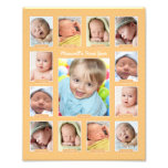 Impressão da colagem da lembrança da foto do ano d impressão de foto