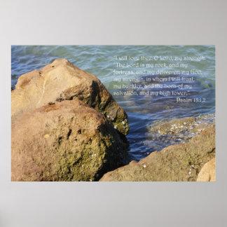 Impressão da escritura do 18:1,2 do salmo