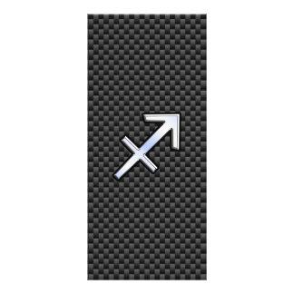 Impressão da fibra do carbono do preto do sinal do 10.16 x 22.86cm panfleto