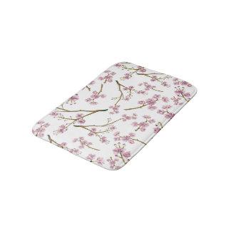 Impressão da flor de cerejeira de Sakura Tapete De Banheiro