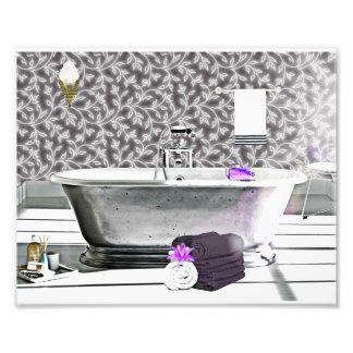Impressão da foto da aguarela da banheira do art