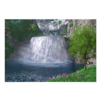 Impressão da foto da cachoeira de Cwm