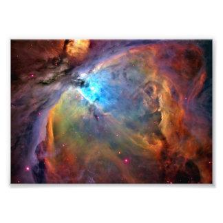 Impressão da foto da galáxia do espaço da nebulosa