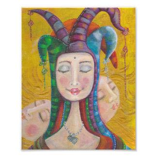 Impressão da foto da menina | do circo de Venus