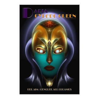 Impressão da foto da rainha do Cyborg de Daria Impressão De Foto