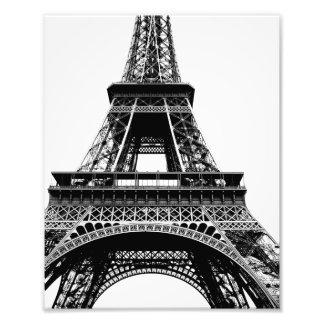 Impressão da foto da torre Eiffel