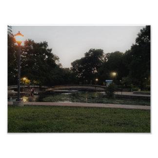 Impressão da foto das belas artes do parque de