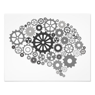 Impressão da foto das engrenagens do cérebro impressão de foto