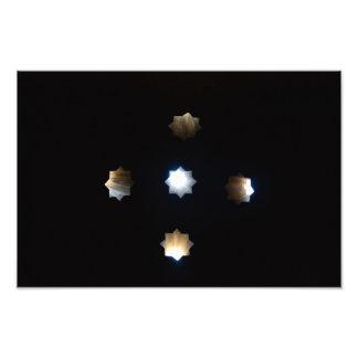 Impressão da foto das estrelas da luz solar