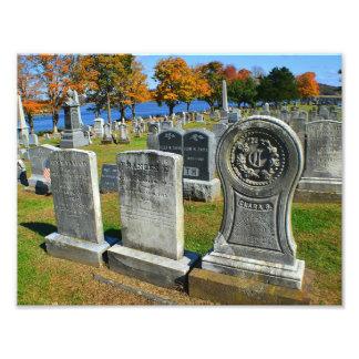 Impressão da foto do cemitério impressão de foto