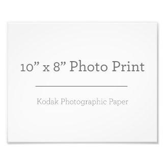 Impressão da foto do costume 10 x 8 impressão de foto