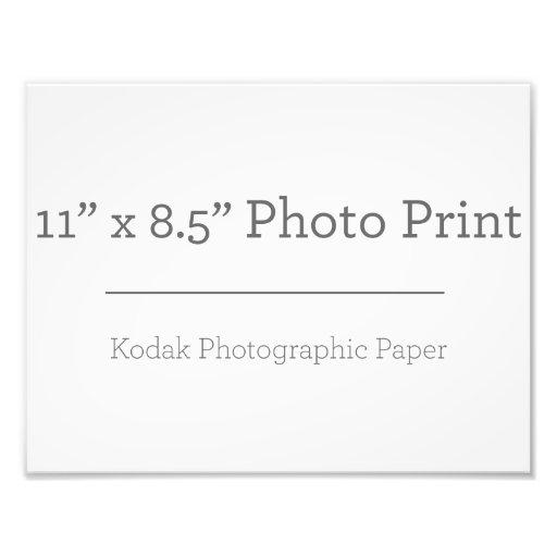 27,94cm x 21,59cm, Papel Profissional de Foto Kodak (Cetim)