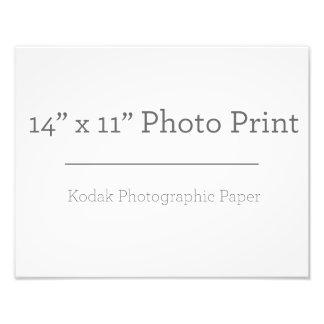 Impressão da foto do costume 14 x 11 impressão de foto