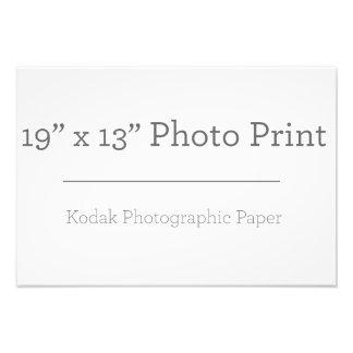 Impressão da foto do costume 19 x 13 impressão de foto