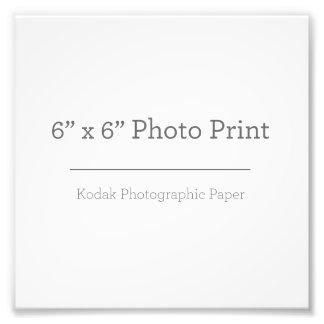 Impressão da foto do costume 6 x 6 impressão de foto