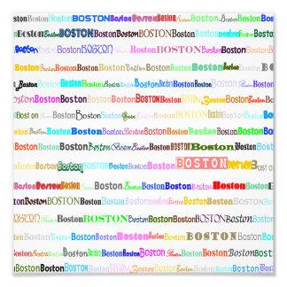 Impressão da foto do design de texto II de Boston
