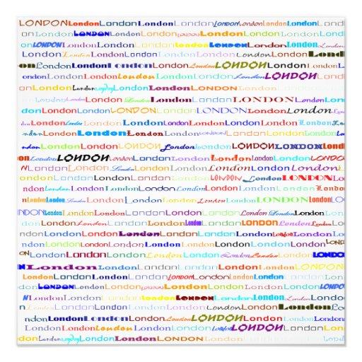Impressão da foto do design de texto II de Londres