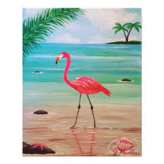 Impressão da foto do flamingo