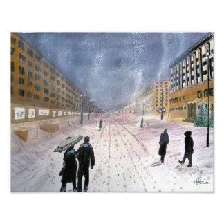 Impressão da foto do inverno 1