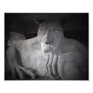 Impressão da foto do troll de Seattle Fremont