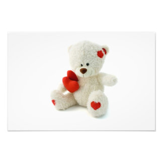 Impressão da foto do urso de ursinho do dia dos na impressão de foto
