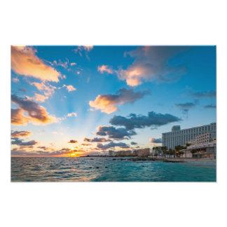 Impressão da foto - nascer do sol sobre Punta
