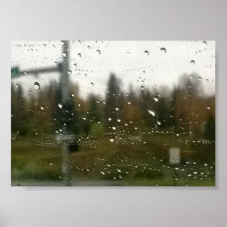 Impressão da fotografia da chuva