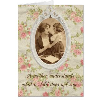 Impressão da mãe do vintage cartão