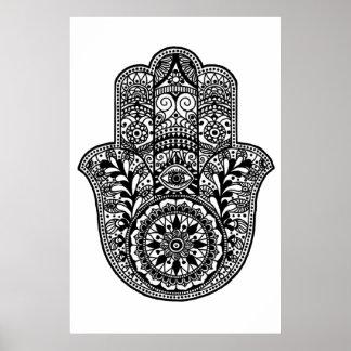 Impressão da mão de Hamsa