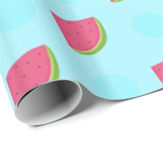 Impressão da melancia papel de presente