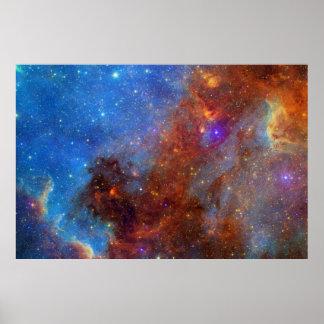 Impressão da nebulosa da cisne