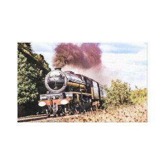 Impressão da parede das canvas do trem do vapor