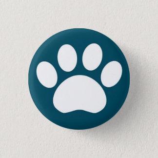 Impressão da pata: Botão azul Bóton Redondo 2.54cm