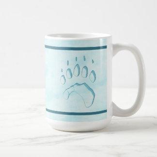 Impressão da pata de urso polar caneca de café