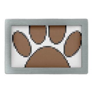 Impressão da pata do cão do pixel