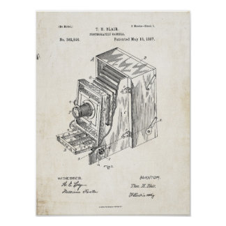 Impressão da patente da câmera fotográfica 1887