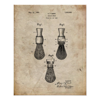 Impressão da patente de uma escova de rapagem